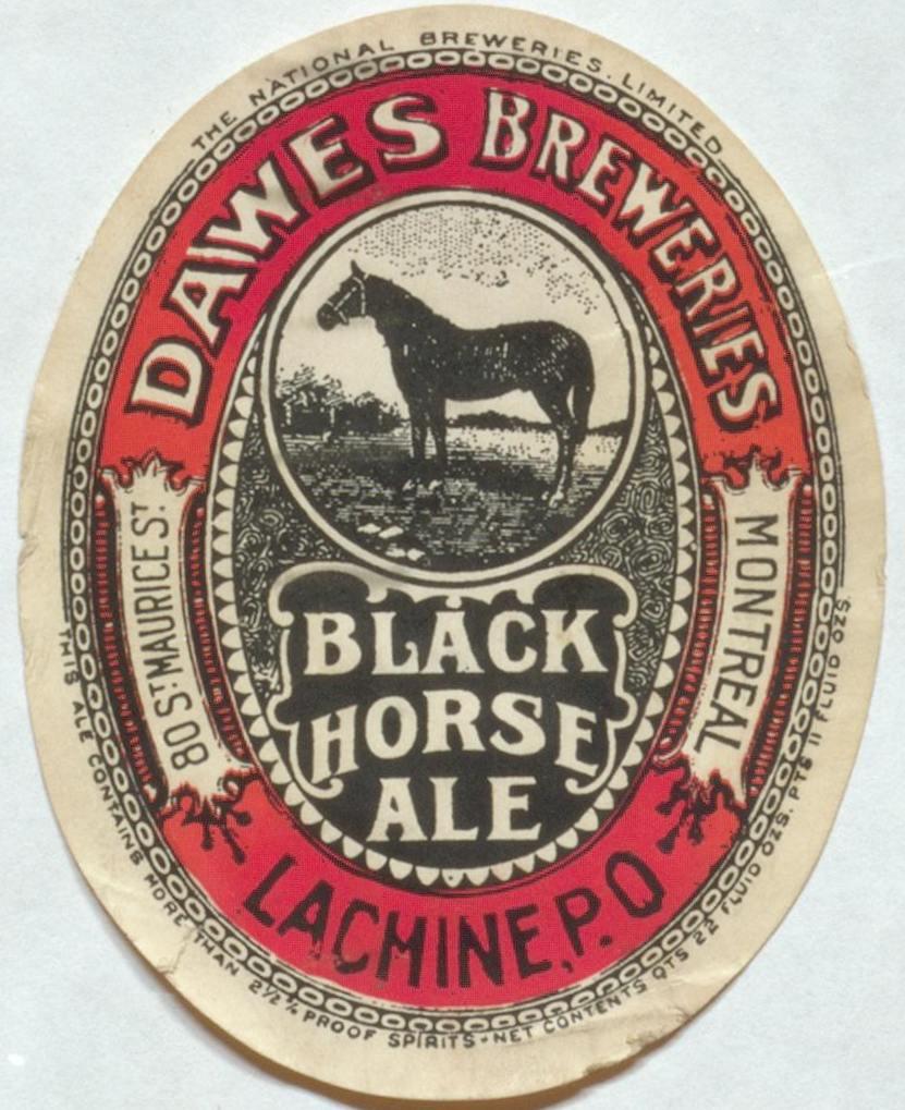 more black horse labels newfoundland beer history