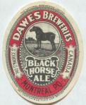 Dawes Black Horse Ale label circa 1939-1952.