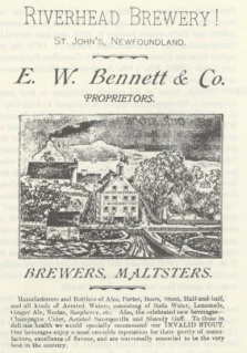 Bennett Brewing advert from the Encyclopedia of Newfoundland