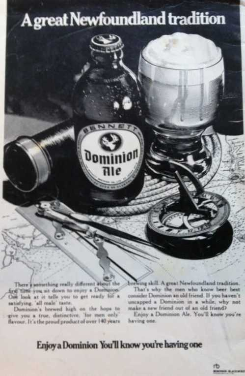 Dominion Ad from Newfoundland Songs (8th Edition)