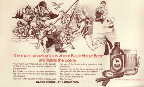 Black Horse Ad in Newfoundland Songs (9th Edition)